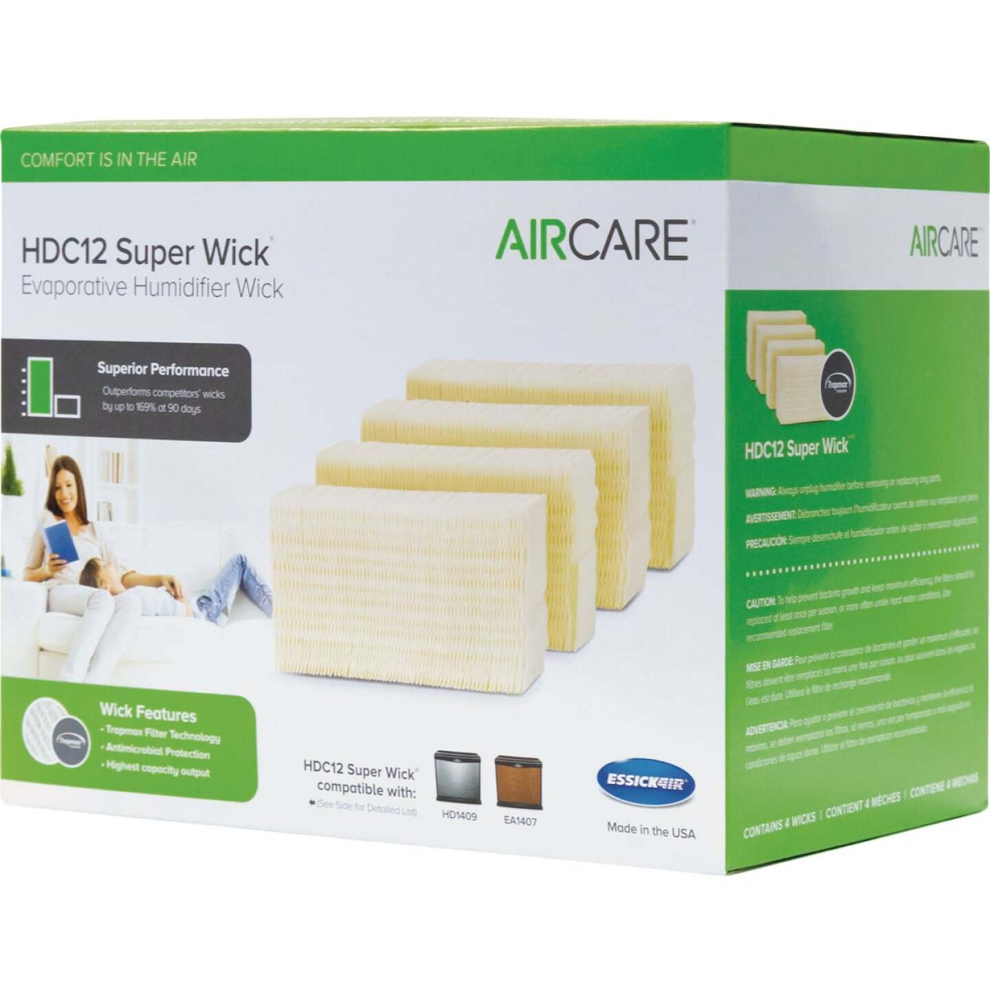 Essick Air HDC12 Humidifier Wick Filter (4-Pack) Image 1