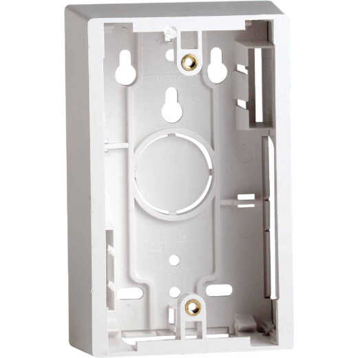 Leviton White 1.89 In. Shallow Wiring Box