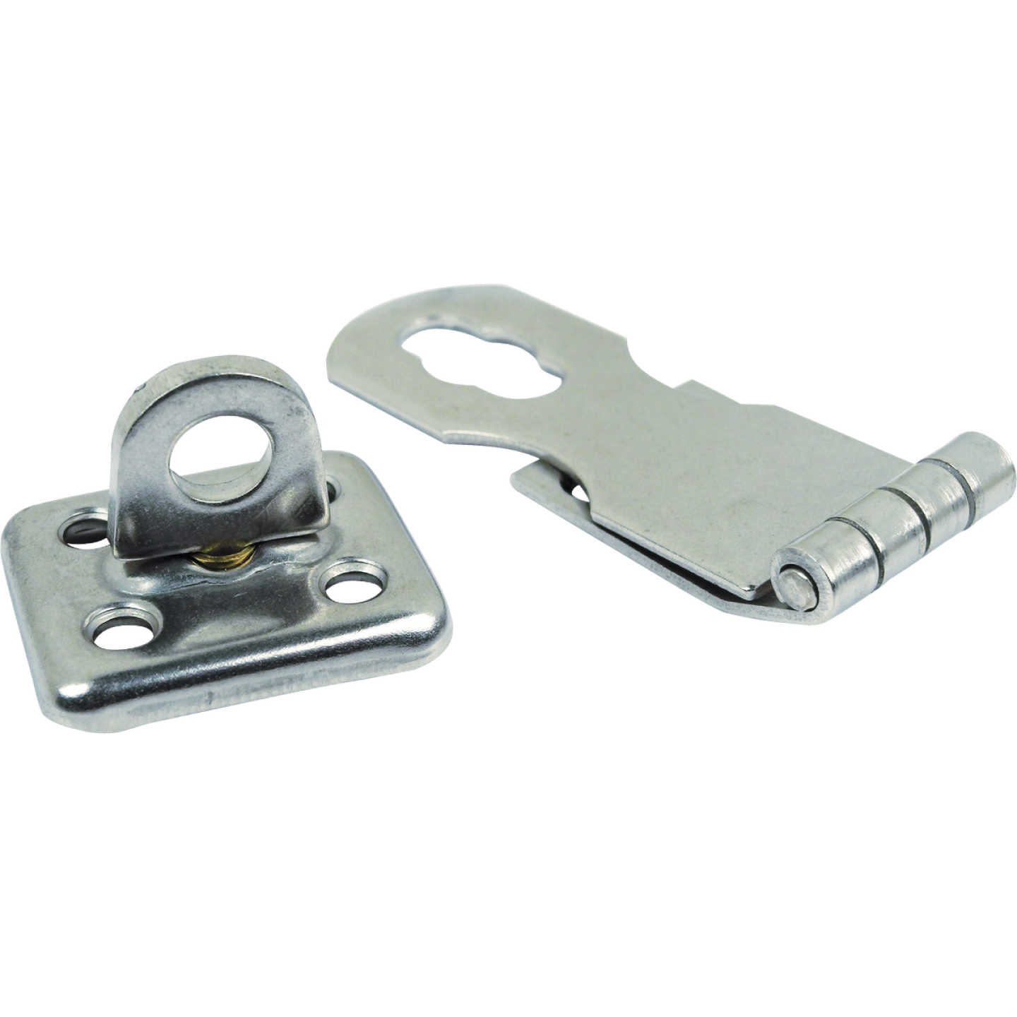 Seachoice 1 In. x 2-3/4 In. Polished Stainless Steel Swivel Eye Safety Hasp Image 1