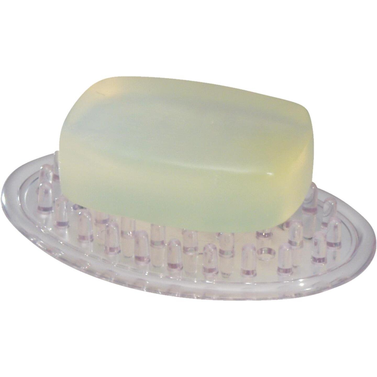 InterDesign Clear Soap Dish Image 1