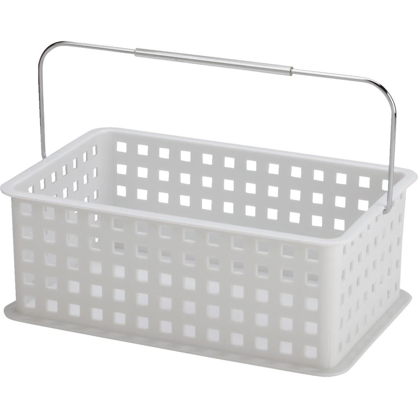 InterDesign Medium White Plastic Basket Image 1
