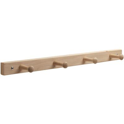 Interdesign Natural Wood 4-Peg Rack
