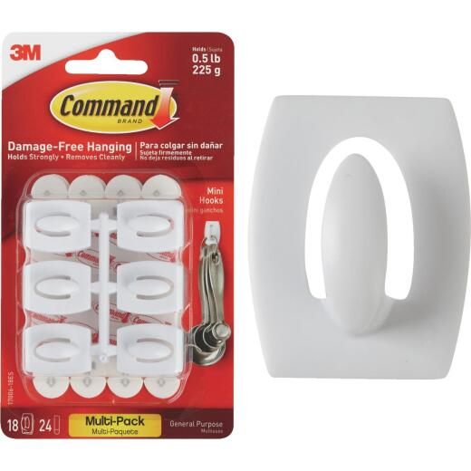 Command Mini Adhesive Hook (18 Pack)