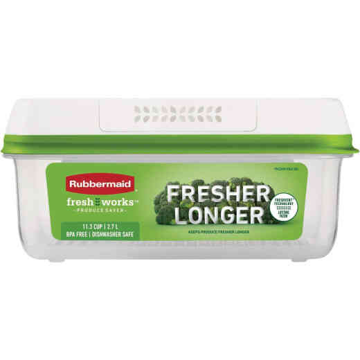 Rubbermaid Freshworks Produce Saver 11.3 C. Rectangle Produce Container