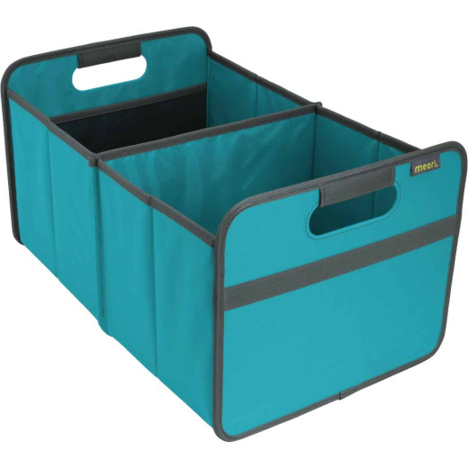 Meori 2-Compartment Azure Blue Foldable Reusable Box