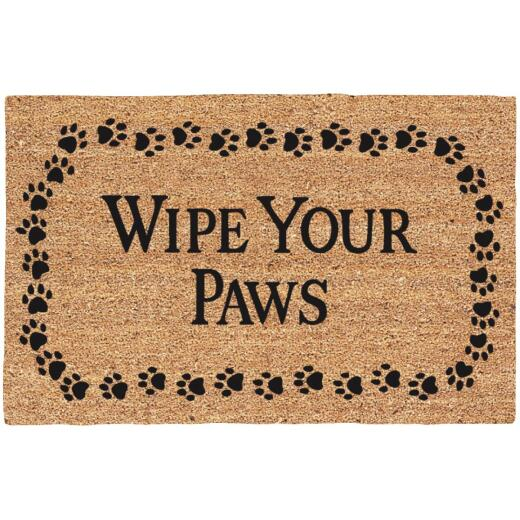 Americo Home Wipe Your Paws 18 In. x 30 In. Coir/Vinyl Door Mat