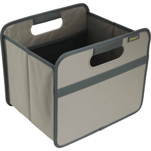 Meori 1-Compartment Stone Gray Foldable Reusable Box