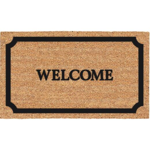 Americo Home Welcome 18 In. x 30 In. Coir/Vinyl Door Mat