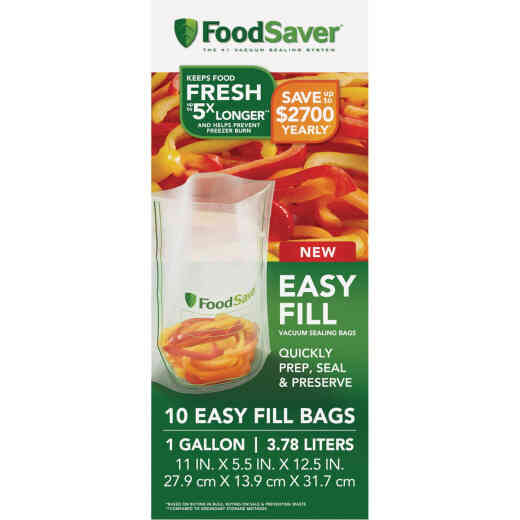FoodSaver Easy Fill Gal. Vacuum Sealer Bags (10 Count)