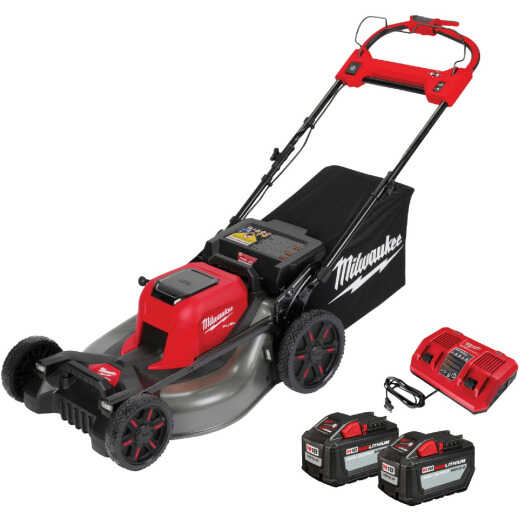 Milwaukee M18 FUEL 21 In. Self-Propelled Dual Battery Cordless Lawn Mower Kit