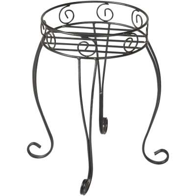 Best Garden Black Steel 21 In. H. Plant Stand