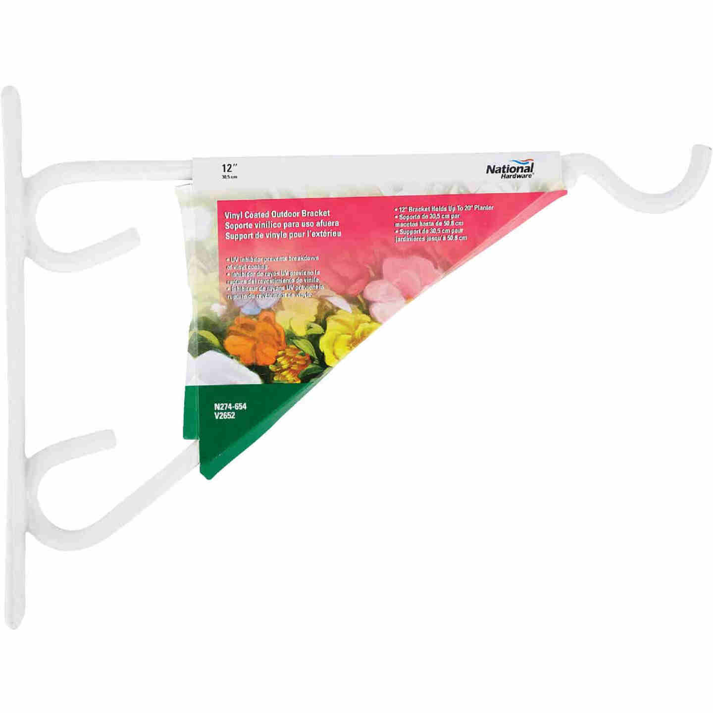 National 12 In. White Vinyl-Coated Steel Plant Hanger Bracket Image 2