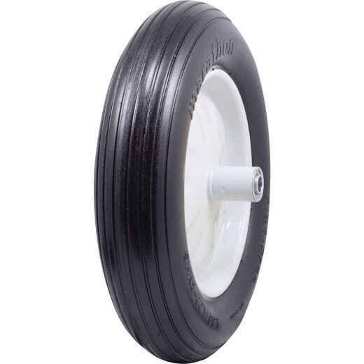 Marathon 16 x 480/400-8 In. Flat Free Wheelbarrow Wheel