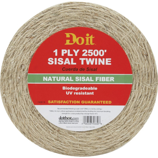 Do it 1-Ply x 2500 Ft. Tan Sisal Fiber Twine