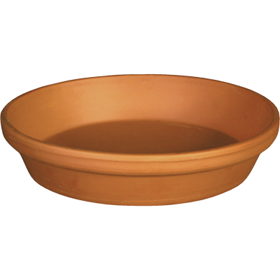 Ceramo 10 In. Terracotta Clay Standard Flower Pot Saucer