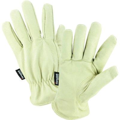 West Chester Men's Large Grain Pigkin Leather Driver Winter Work Glove