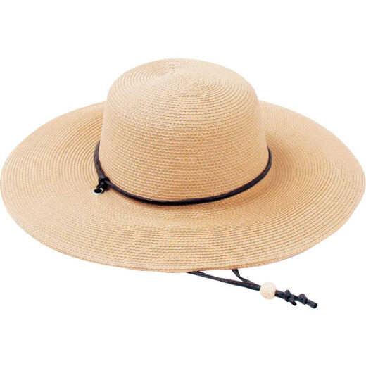 Sloggers Women's Light Brown Straw Sun Hat