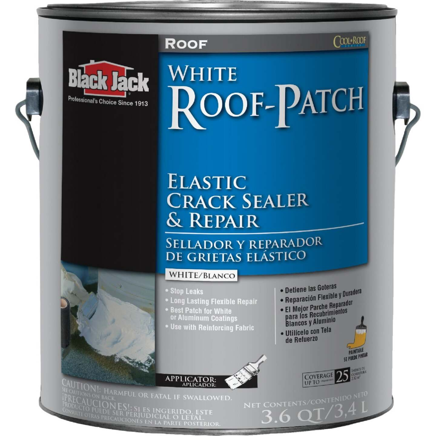 Black Jack Roof-Patch 1 Gal. Elastic Crack Sealer and Repair Image 1