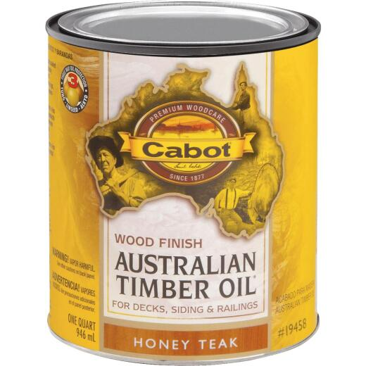 Cabot Australian Timber Oil Water Reducible Translucent Exterior Oil Finish, Honey Teak, 1 Qt.