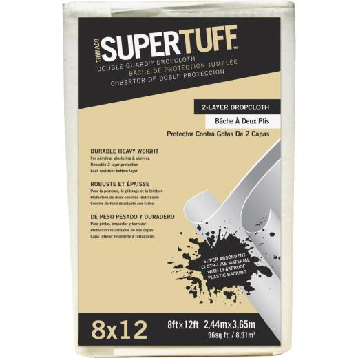 Trimaco SuperTuff 8 Ft. x 12 Ft. Double Guard Drop Cloth