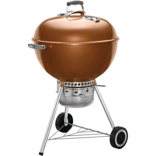Weber Original Kettle 22 In. Dia. Copper Premium Charcoal Grill
