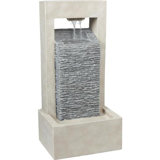 Best Garden 7.25 In. W. x 25.2 In. H. x 12.4 In. L. Resin Modern Style Fountain