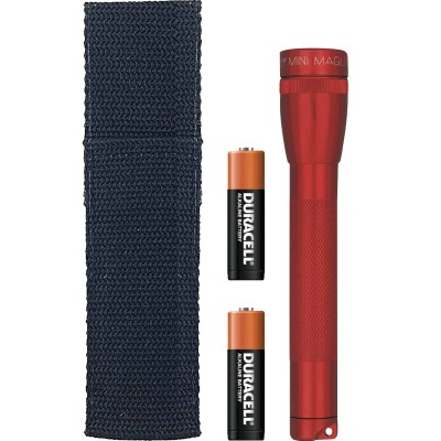 Maglite 14 Lm. Xenon 2AA Flashlight, Red