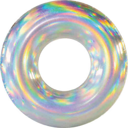 PoolCandy Holographic Ride-On Tube Pool Float