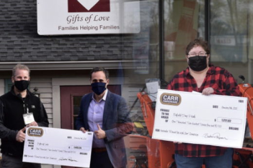 Carr Hardware Customers Kick off 2021 Donating a total of $2,645.07